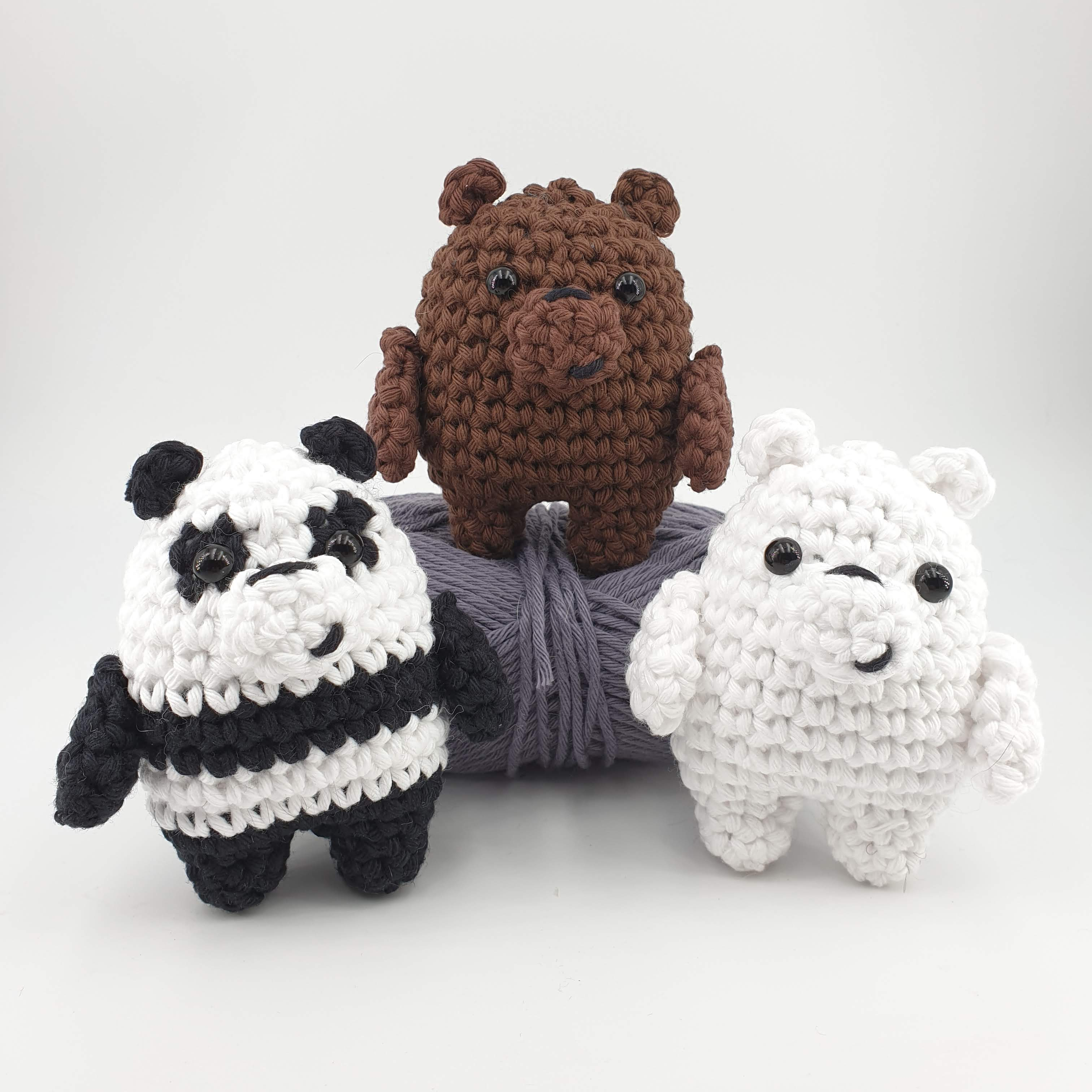 CROCHET PATTERN: We Bare Bears Inspired Baby Bear | Kawaii crochet ... | 3024x3024